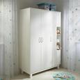Kleiderschrank in Weiß - Weiß, MODERN, Holz (133/195/55cm) - Premium Living