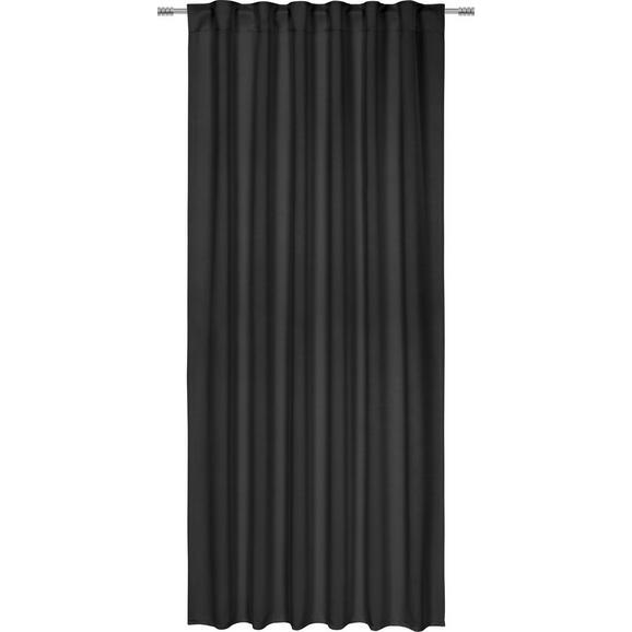 Draperie Opacă Riccardo - negru, Modern, textil (140/245cm) - Premium Living