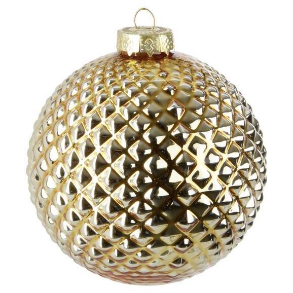 Kroglica Za Božično Jelko Lena - zlata, steklo (8cm) - Mömax modern living
