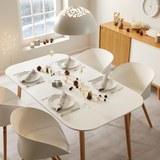 Tisch Anuk ca. 160x90 cm - Buchefarben/Weiß, MODERN, Holz/Holzwerkstoff (160/75/90cm) - Modern Living