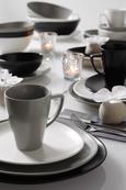 Dessertteller Nele Schwarz - Schwarz, MODERN, Keramik (21/19/2,3cm) - Premium Living