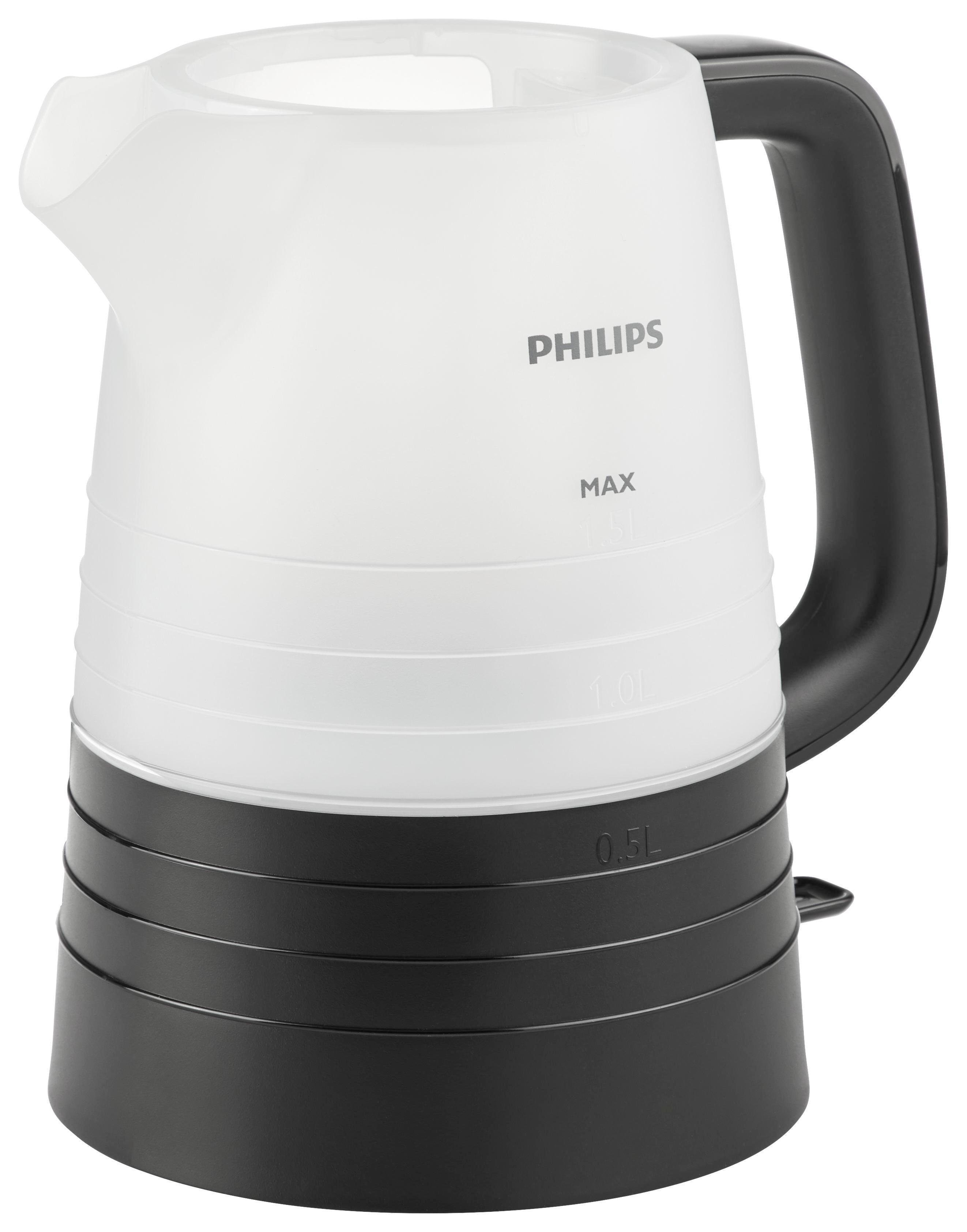Wasserkocher Philips - Schwarz, MODERN, Kunststoff/Metall - PHILIPS