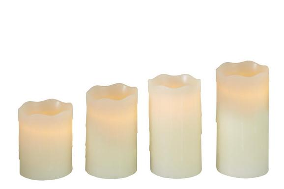 Sveča Z Led-diodo Luminous - 4-delni Set - krem, umetna masa - MÖMAX modern living