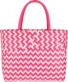 Bevásárlókosár Kaia - Pink/Fehér, Lifestyle, Műanyag (39/34/19cm) - Modern Living