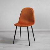 Stuhl Lio - Rostfarben/Schwarz, MODERN, Holz/Textil (43/86/55cm) - Modern Living