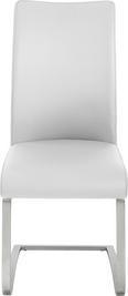 Nihajni Stol Arco I - bela/nerjaveče jeklo, Moderno, kovina/tekstil (52/103/43cm) - Premium Living