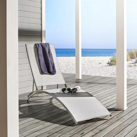 Sonnenliege Trine - Hellgrau, MODERN, Kunststoff/Textil (55/180/78/92cm) - MODERN LIVING