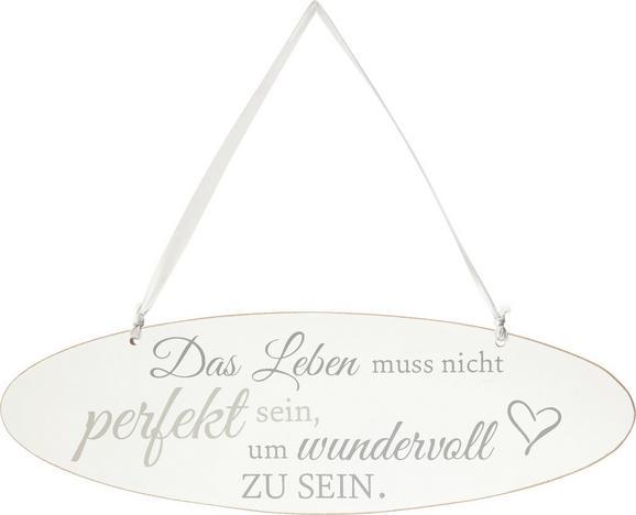 Dekoschild Love Weiß - Weiß, ROMANTIK / LANDHAUS, Holzwerkstoff (1/30/10cm)