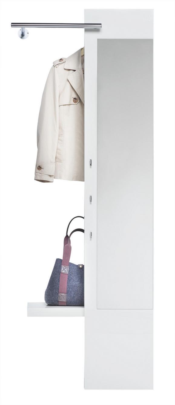 Wandgarderobe in Weiß Hochglanz - Weiß, MODERN, Holzwerkstoff (72/190,4/38cm) - Mömax modern living