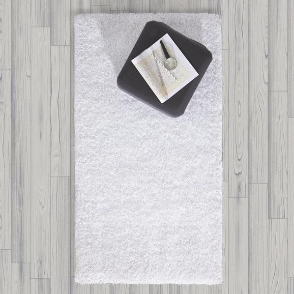 Hochflorteppich Shaggy 80x150cm - Weiß, MODERN, Textil (80/150cm) - Mömax modern living