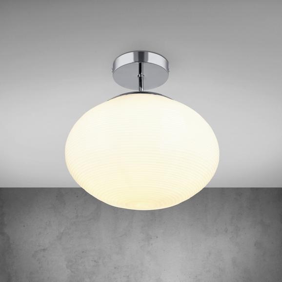 Deckenleuchte Florica - Chromfarben, MODERN, Glas/Metall (30/34,5cm) - Premium Living