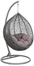 XL Hängesessel Lima inkl. Auflage - Grau, MODERN, Kunststoff/Textil (102/195/110cm) - MÖMAX modern living