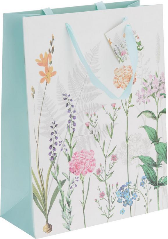 Geschenktasche Jana in Bunt - Multicolor/Weiß, LIFESTYLE, Papier (25/33/11cm)