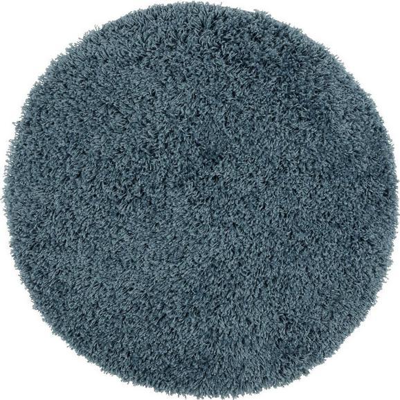 Hcohflorteppich Bono Blau Ø ca. 80cm - Blau, KONVENTIONELL, Textil (80cm) - Mömax modern living
