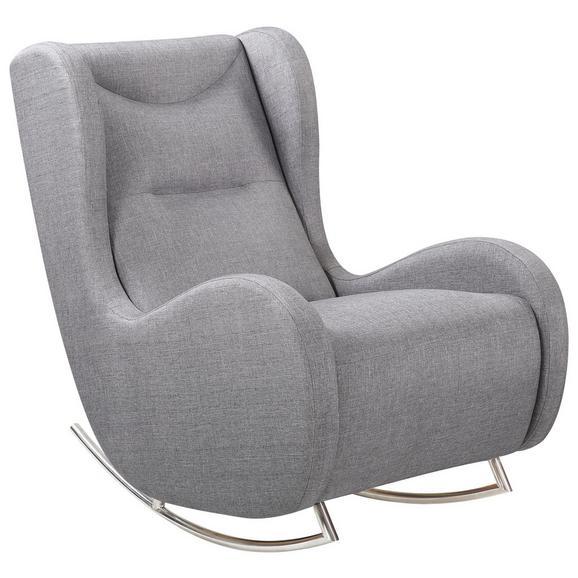 schaukelstuhl modern in grau chromfarben textil metall 70 wohnzimmer