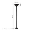 Stehleuchte max. 60 Watt 'Kylo' - Schwarz, ROMANTIK / LANDHAUS, Metall (30/175cm) - Bessagi Home