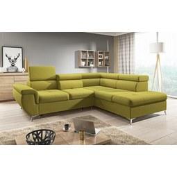 Sedežna Garnitura Monk - turkizna/rumena, Konvencionalno, tekstil (271-222/80-101/113cm) - MODERN LIVING