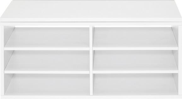Regaleinsatz in Weiß - Weiß, MODERN, Holzwerkstoff (76/33,1/36,7cm) - Mömax modern living