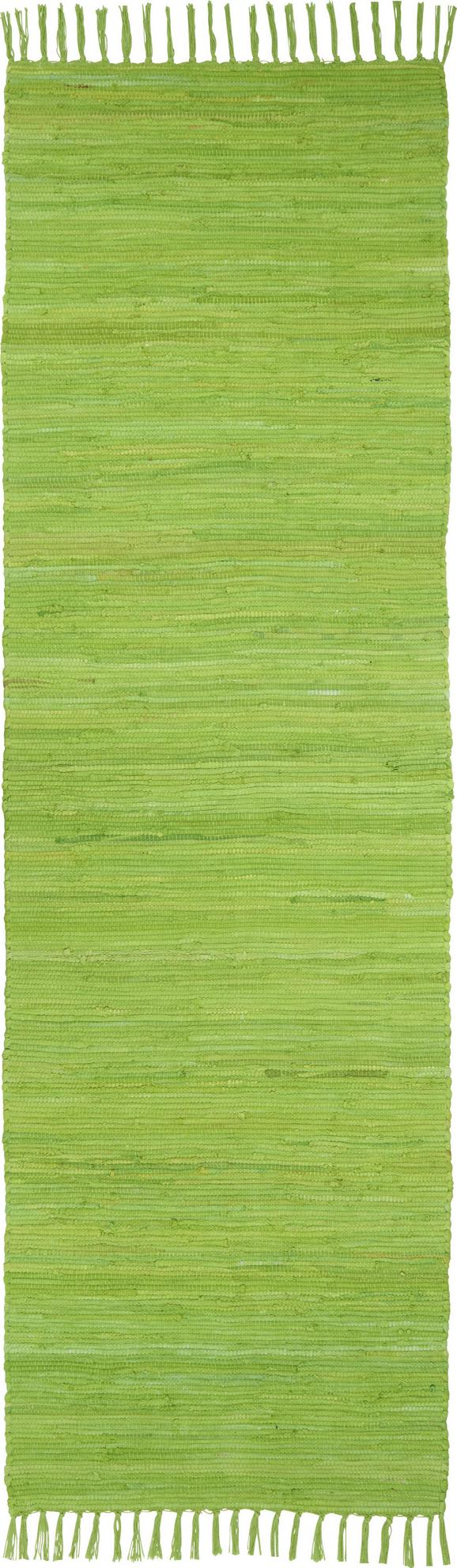 Fleckerlteppich Julia 70x230cm - Hellgrün, KONVENTIONELL, Textil (70/230cm) - Mömax modern living