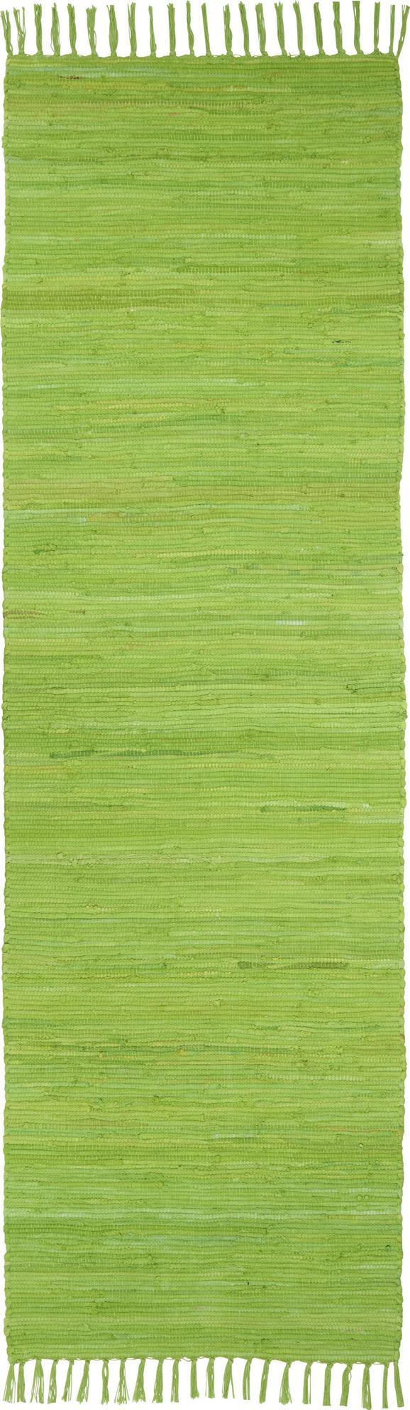 Fleckerlteppich Julia - Hellgrün, KONVENTIONELL, Textil (70/230cm) - Mömax modern living