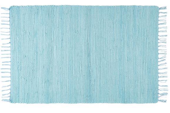 Fleckerlteppich Julia Hellblau, ca.70x230cm - Hellblau, ROMANTIK / LANDHAUS, Textil (70 230 cm) - Mömax modern living