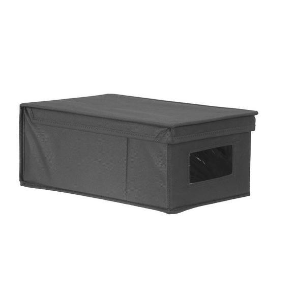 Aufbewahrungsbox Anthrazit - Anthrazit, MODERN, Karton/Textil (20/13/34cm) - Mömax modern living