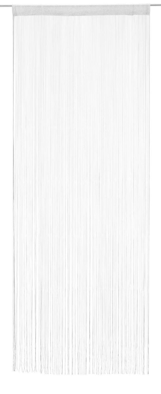 Fadenstore Matallic, ca. 90x245cm - Weiß/Grau, LIFESTYLE, Textil (90/245cm) - MÖMAX modern living