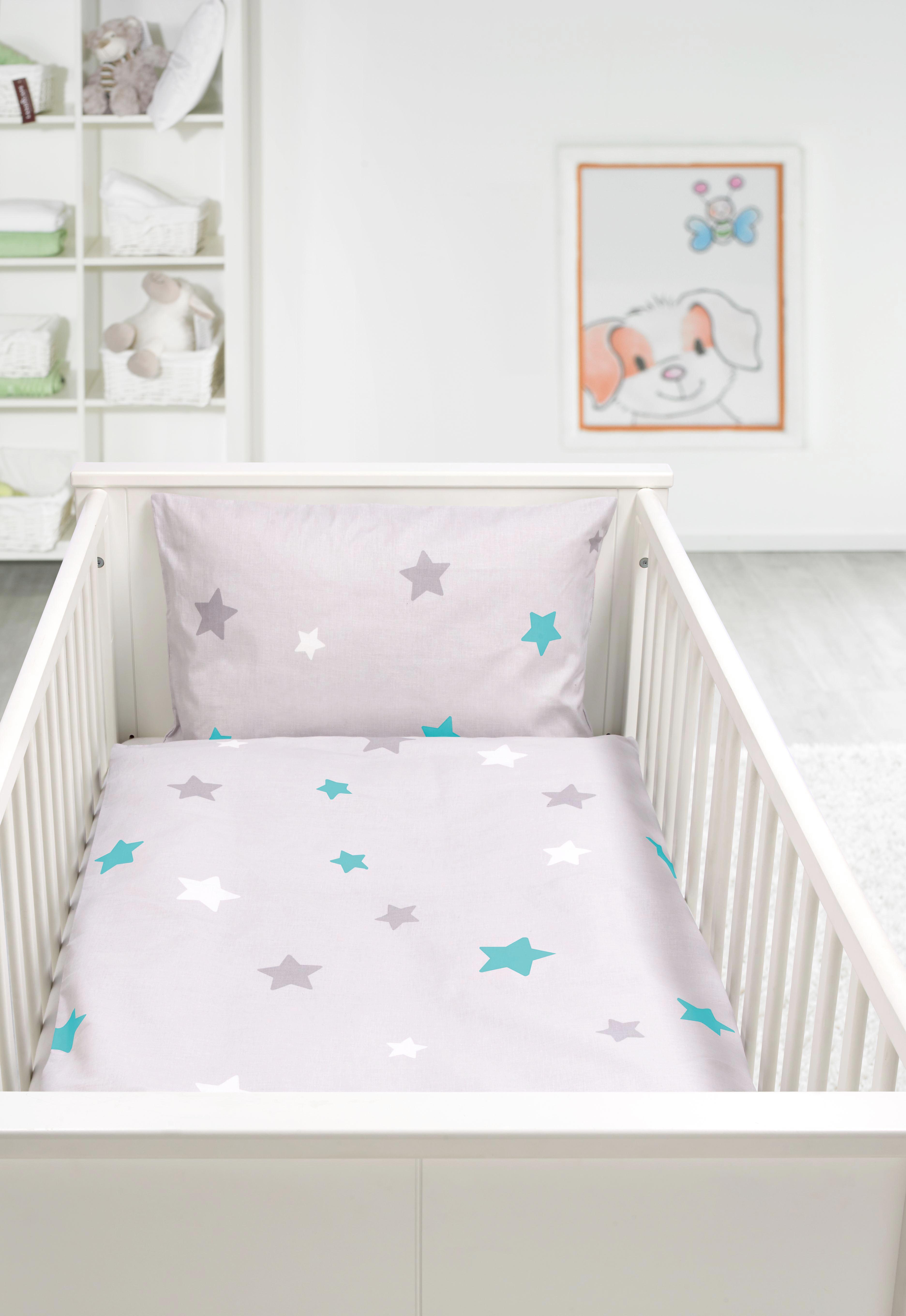 Kinderbettwäsche Scarlett ca. 100x135cm - Türkis/Grau, Textil - MÖMAX modern living