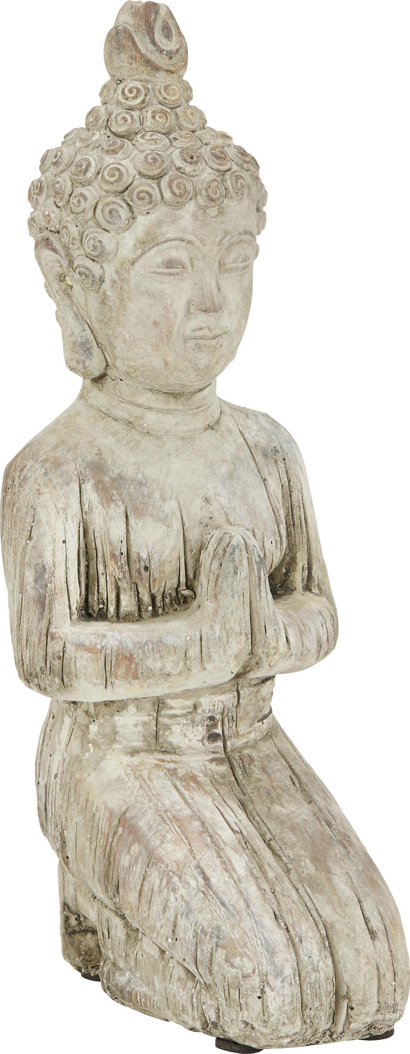 Buddha Buddha Knieend aus Stein - Braun, KONVENTIONELL, Stein (14/11,5/32cm) - MÖMAX modern living