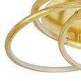 LED-Deckenleuchte Barna max. 30 Watt - Goldfarben, MODERN, Kunststoff/Metall (50/14cm)