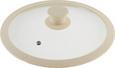 Deckel Marmor in Creme - Creme, ROMANTIK / LANDHAUS, Glas/Kunststoff (24cm) - Premium Living