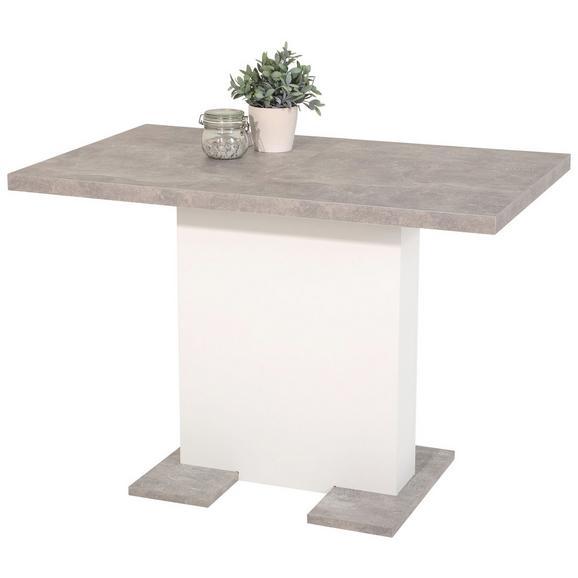 Raztegljiva Miza Britt Ca. 110-150x69 Cm - bela/svetlo siva, Moderno, leseni material (110-150/76/69cm) - Mömax modern living