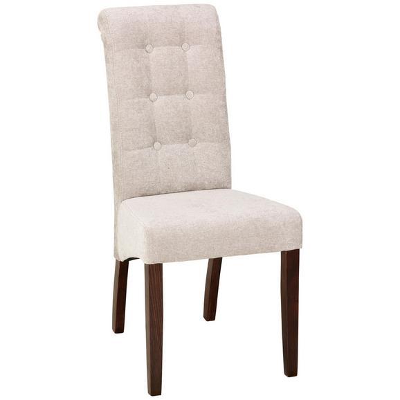 Stuhl in Creme - Beige, ROMANTIK / LANDHAUS, Holz (48/102/50cm) - Zandiara