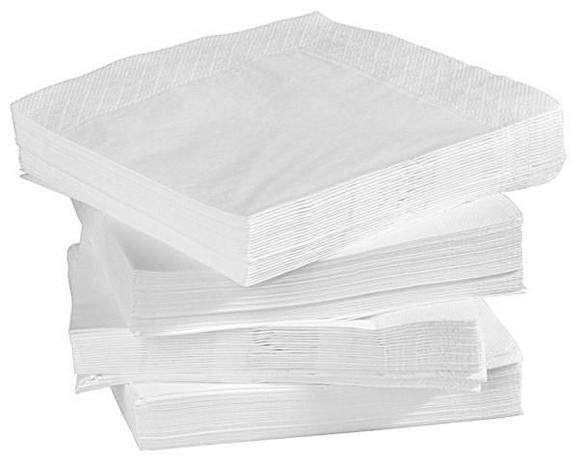 SERVIETTE Kamilla in Weiß, 100 Stk. - Weiß, Papier (40/40cm) - BASED