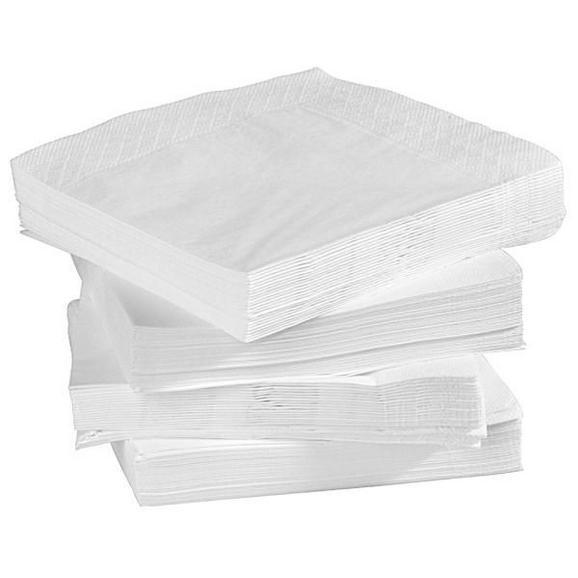 Serviette Kamilla Weiß - Weiß, Papier (40/40cm) - Based