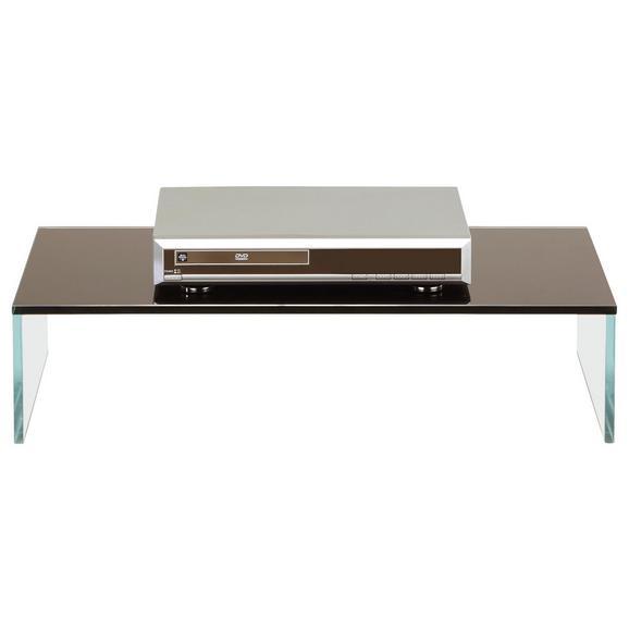 Tv-stojalo Black-line - črna/prosojna, steklo (60/14/35cm) - Mömax modern living