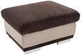 Tabure Seaside - krom/rjava, Konvencionalno, kovina/tekstil (97/47/67cm) - Premium Living