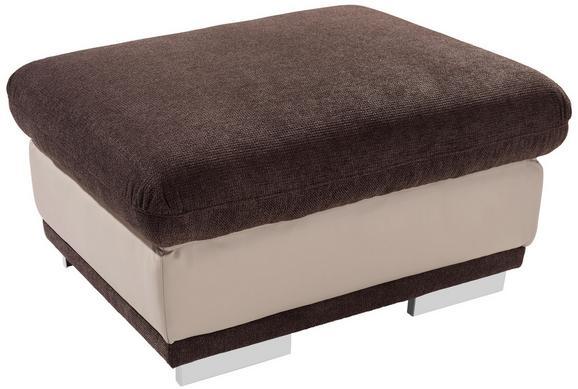 Tabure Seaside - krom/rjava, Moderno, kovina/tekstil (97/47/67cm) - Premium Living