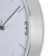 Wanduhr Jesper, ca. 30x4cm - Silberfarben, MODERN, Glas/Metall (30,5/30,5/4cm) - Mömax modern living