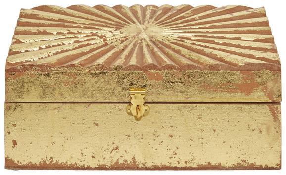 Dekobox Lara Goldfarben - Goldfarben, Holz (25/15/10cm)