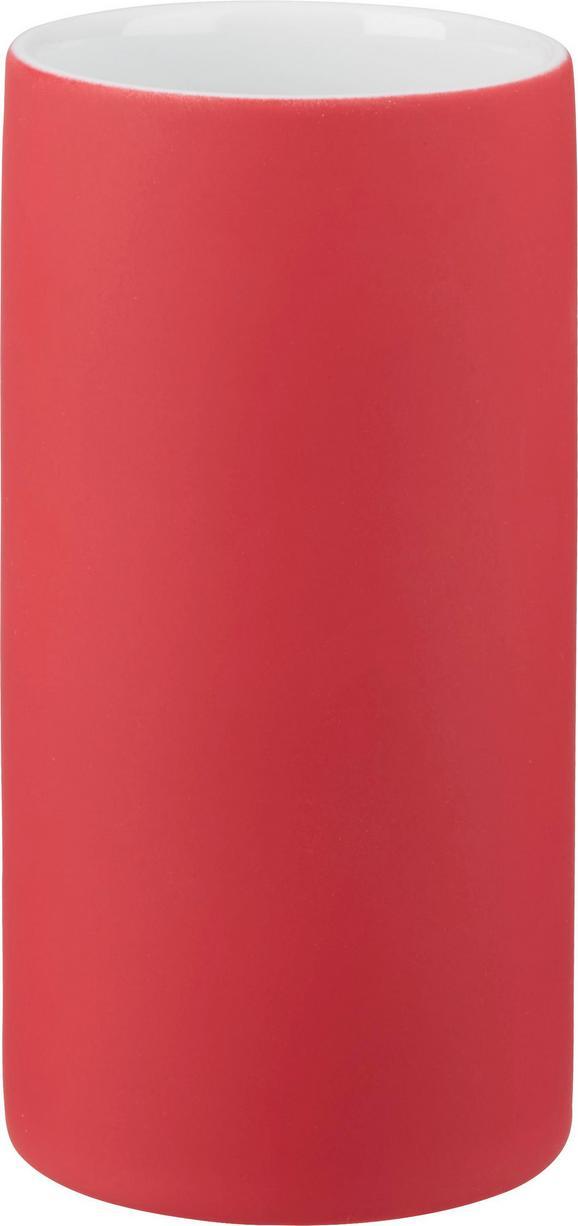 Zahnputzbecher Melanie in Rot aus Keramik - Rot, Keramik (6,5/12cm) - MÖMAX modern living