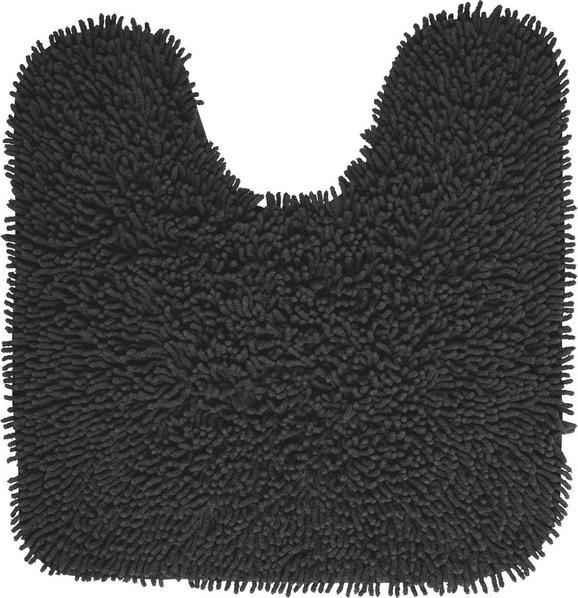 WC-Vorleger Jenny Anthrazit - Anthrazit, Textil (55/55cm) - Mömax modern living