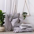 Lenjerie De Pat Stone Washed Uni - gri deschis, Romantik / Landhaus, textil (140/200cm) - Modern Living