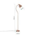 Stehleuchte Gisela, max. 40 Watt - Kupferfarben, MODERN, Metall (145cm) - Mömax modern living
