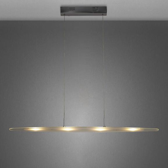 Led Hängeleuchte Vivian - Chromfarben, MODERN, Glas/Metall (93/14/120cm) - PREMIUM LIVING