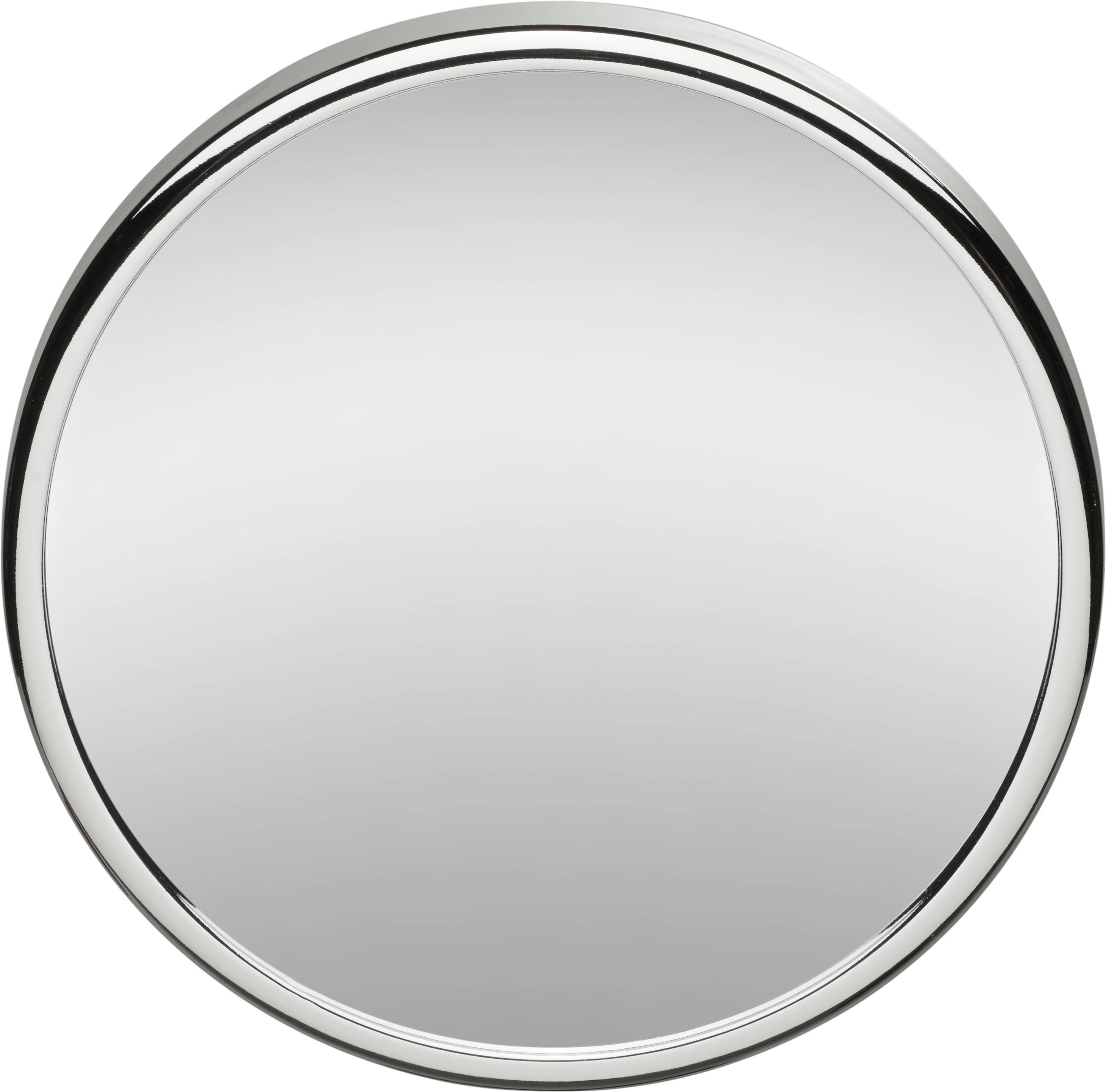 Kosmetikspiegel ca. 13cm - Chromfarben, Glas/Kunststoff (13/13/2,5cm) - MÖMAX modern living