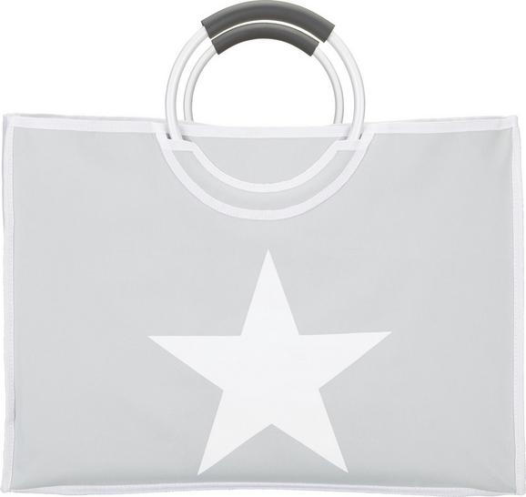 Einkaufstasche Star - Hellgrau/Weiß, Kunststoff/Metall (54/24/40cm) - MÖMAX modern living