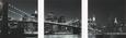 Glasbild Manhatten, ca. 30x90x1,7cm - Multicolor, MODERN, Glas (30/90/1,7cm) - Mömax modern living