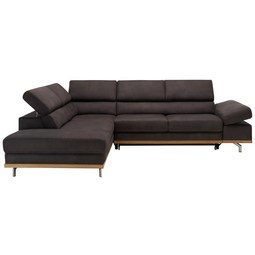 Funkcijka Sedežna Garnitura Carmen - temno siva/siva, Konvencionalno, kovina/tekstil (226/292cm) - Zandiara