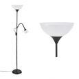 Stoječa Svetilka Vanessa - črna/bela, Konvencionalno, kovina/umetna masa (28/175cm) - Based